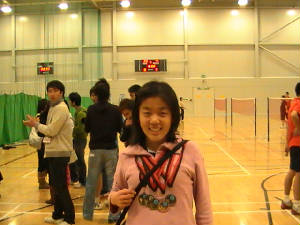 Me with 5 gold medals won in 2008 Mini Asian Game